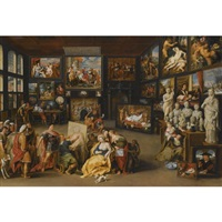 alexander the great visiting the studio of apelles by willem van haecht