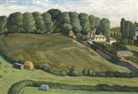 landscape at lyme regis by richard eurich