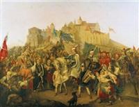mátyás király bevonulása buda várába az 1495 -ös évben by henrik weber