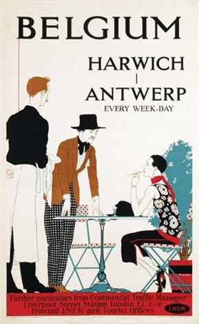 belgium harwich antwerp by reginald edward higgins