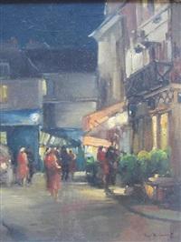 scène de rue animée by serge kislakoff