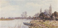a spring day on the thames at bray by walter h. goldsmith