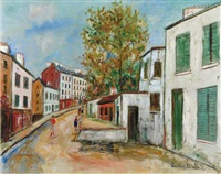 rue à montmartre by maurice utrillo