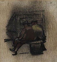 two men at the docks by joan kathleen harding eardley