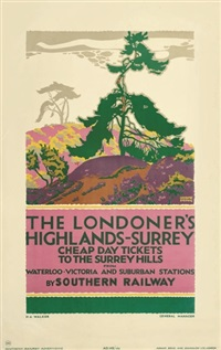 the londoner's highlands - surrey (poster) by gregory brown