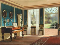 interior with natural light from the garden by frederik wilhelm svendsen