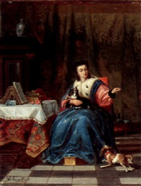 feeding her prize possessions by g. van mellaert