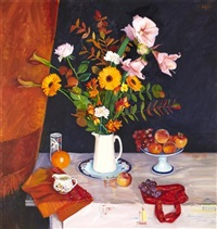 autumn still life by norman edgar