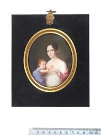 antonie conradine sophie juliane dorothea von linstow (née wernich) and her child by frederik christian camradt