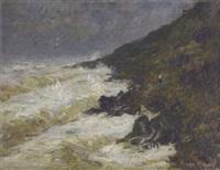 paysage côtier sous la tempête by augustus koopman