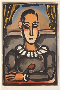 pierrot noir (from cirque de l'étoile filante) by georges rouault