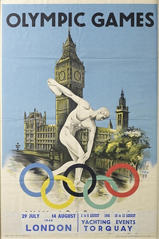 official poster advertising the games by walter herz