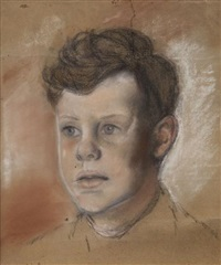 portrait of a boy (ivor pirie) by edward mcewan baird
