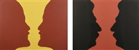 from lenin to stalin and from stalin to lenin (diptych) by mikhail magaril
