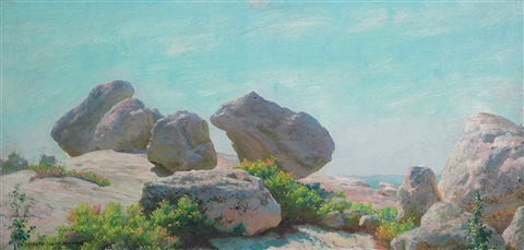 boulders on bear cliff, the conference by charles courtney curran