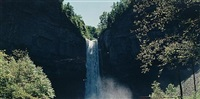 burgess falls, falling water river, tennessee (+ taughannock falls, cayuga lake, new york, 1990; 2 works) by john pfahl