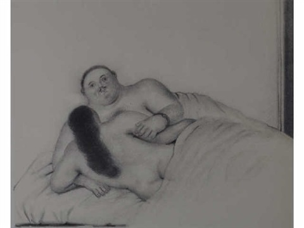 sur le lit by fernando botero