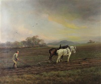 ploughing near dalhousie by murray j. macdonald