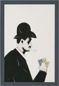 el jugador de cartas by manolo valdés