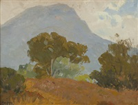 landscape with trees by sam hyde harris