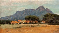 a view of table mountain from rondebosch by nita spilhaus
