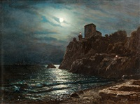 moonlight sealandscape by lev felixovich lagorio