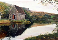 st. finbarr's church, gougane barra by sarah corner