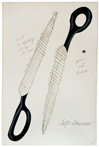 scissors to cut out (national collection of fine arts portfolio) by claes oldenburg