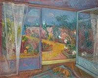 fenêtre ouverte sur le jardin by jacques lestrille