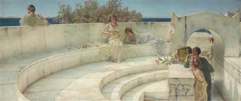 under the roof of blue ionian weather by sir lawrence alma tadema