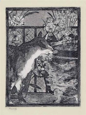 le chat et les fleurs by édouard manet