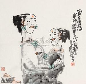 母子情深 mother and daughter by yang xiaoyang