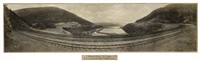 horseshoe curve, pennsylvania, r.r. by william h. rau