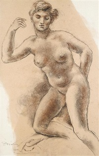 female nude by leon-ernest drivier