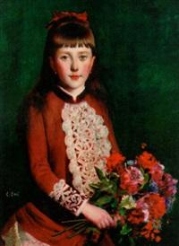 jeune fille au bouquet by jules cyrille cavé