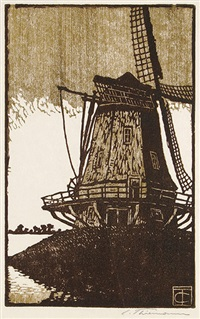 windmühle (i) by carl theodor thiemann