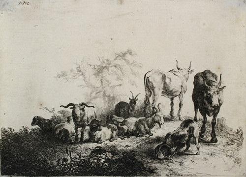 die landschaft mit der herde und dem milchmädchen by jan van noordt