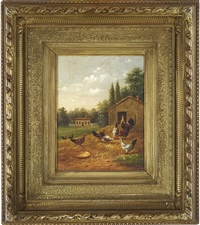 farmyard scene by howard l. hill