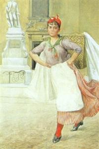 wäschermädel vor der mariahilferkirche by felicien de myrbach-rheinfeld