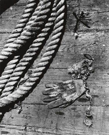rope and glove by aaron siskind