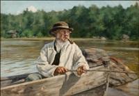 kalastaja vesijärvellä by fredrik ahlstedt
