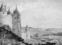 outside the walls, carcassonne by henry stephens eddy