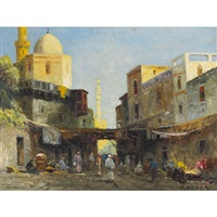 smyrna, market in the ancient city of turkey by rudolph weber