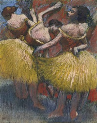 trois danseuses by edgar degas
