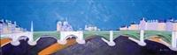 le pont de la tourelle et le pont sully (from les ponts de paris) by anne aknin