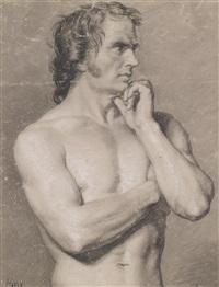 männlicher torso by francesco hayez