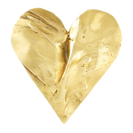 untitled gold heart pin by jim dine