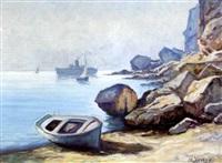 coastal scene by nikos xenos
