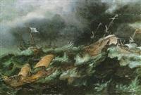 marine par temps de tempête by andries van artvelt (ertvelt)