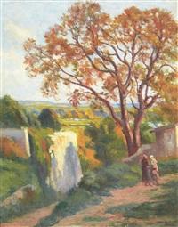 rolleboise, le sentier de l'église by maximilien luce